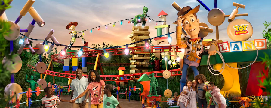 Toy story land woody one of Orlando Theme Parks